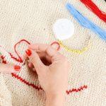 Tutorial ricamo a mano: Sfilatura con frecce a punto festone